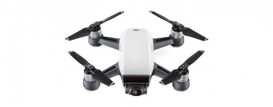 dji spark, portable mini drone, alpine white