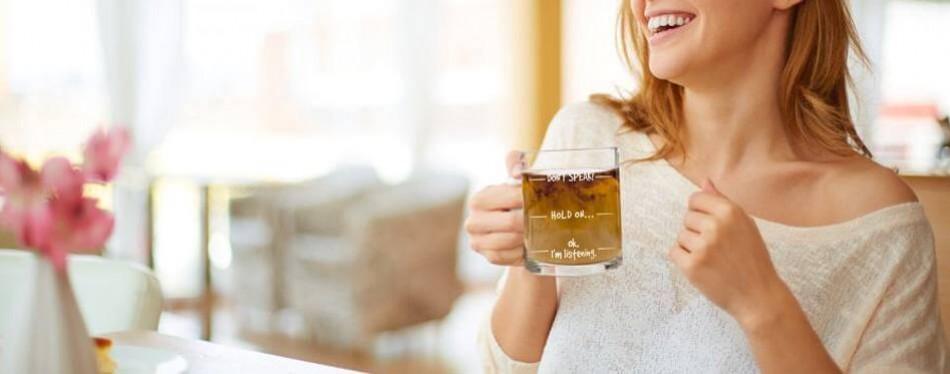 don't speak funny coffee mug