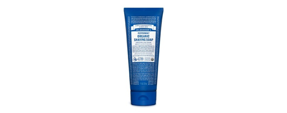 dr. bronner's peppermint organic shaving soap