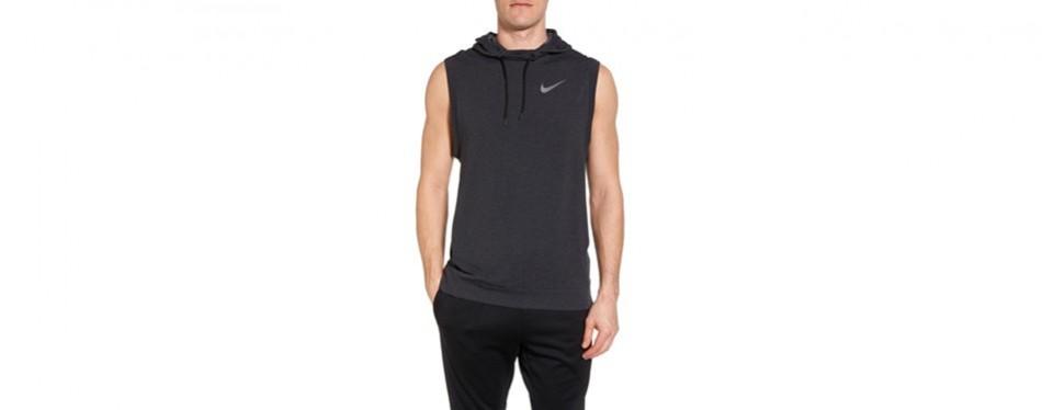 dry training day sleeveless hoodie