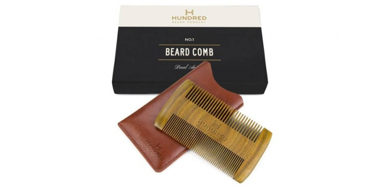 Hundred Beard Company Dual Action Beard Comb & Protective Sleeve