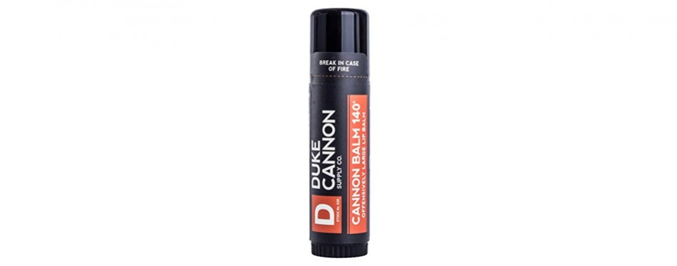duke cannon balm 140 tactical lip protectant, large .56 oz