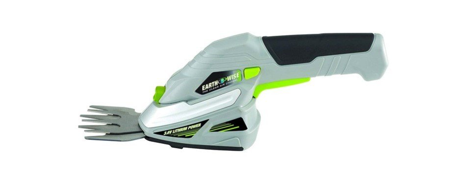 earthwise cordless rechargeable 2-in-1 shrub shear and hedge trimmer combo