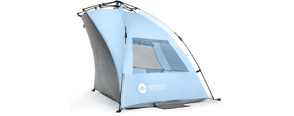 easthills easy up beach tent