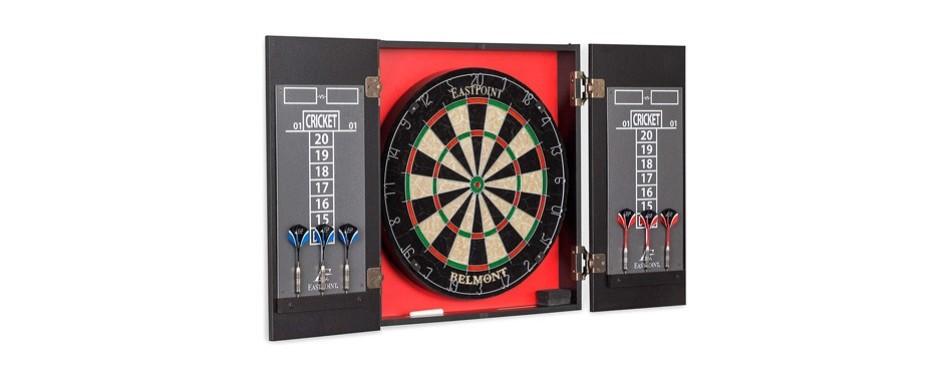 eastpoint sports belmont bristle dartboard & cabinet set