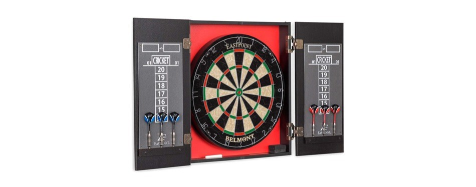 eastpoint sports belmont bristle dartboard & cabinet set