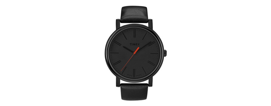 easy reader black leather strap