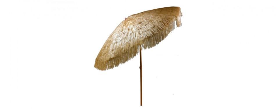 easygo - 6.5' thatch patio tiki umbrella