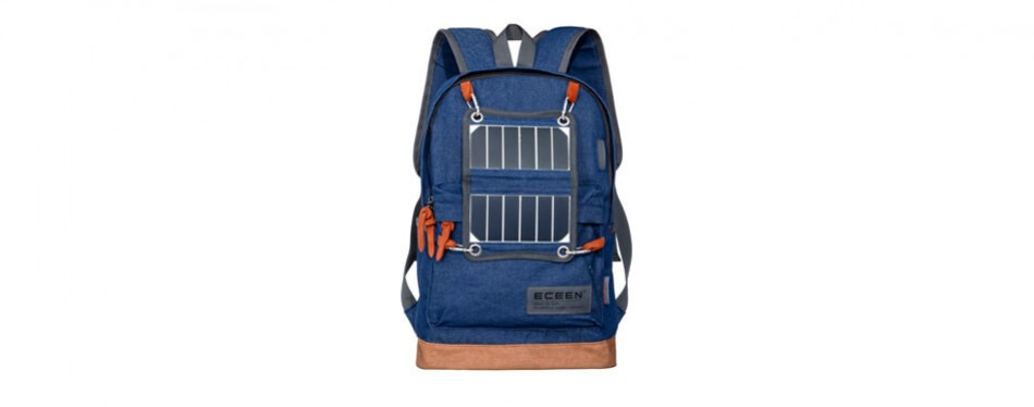 eceen powered backpack with solar charger & battery pack