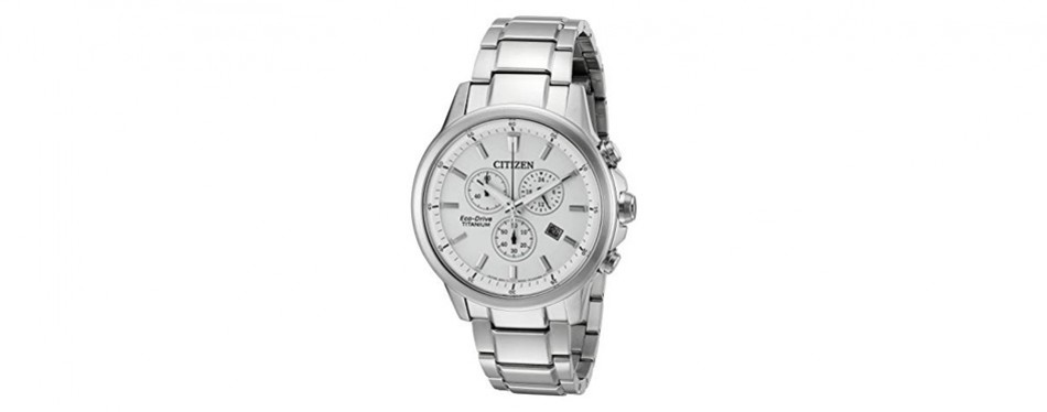 eco-drive 'titanium' quartz citizen watch