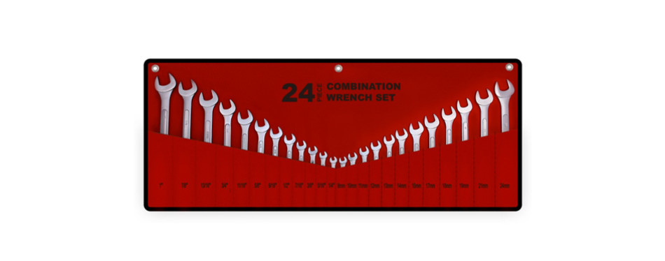efficere 24-piece master combination wrench set