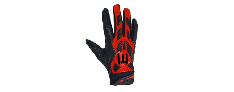 elitetek e-17 football gloves