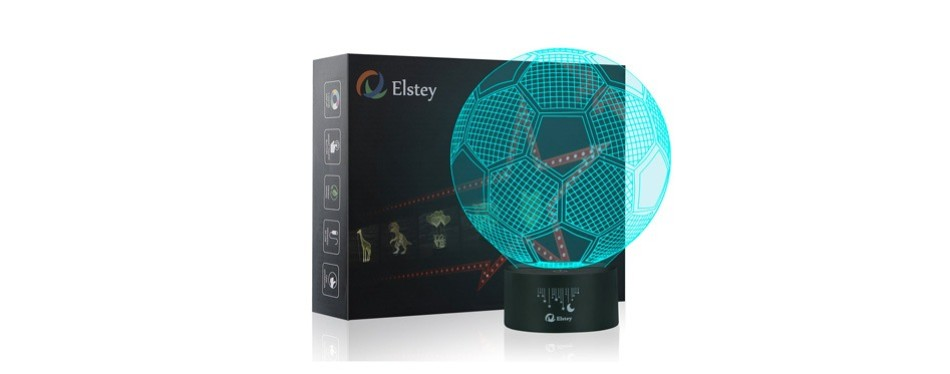 elstey soccer 3d led night light