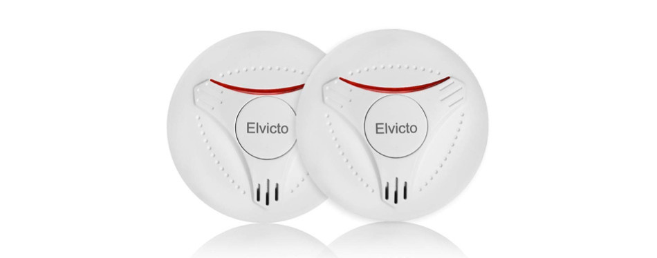 elvicto 2 pack photoelectric smoke detector