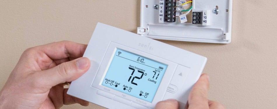 emerson sensi wi-fi thermostat for smart home