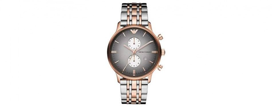 emporio armani gianni classic rose gold watch