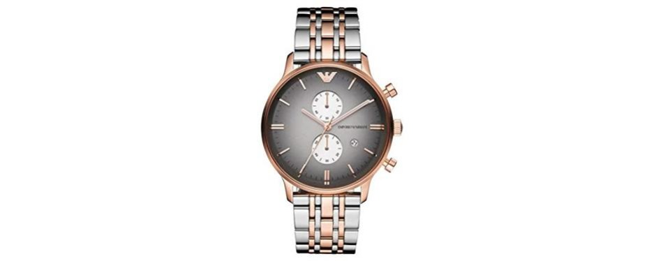 emporio armani gianni classic rose gold watch