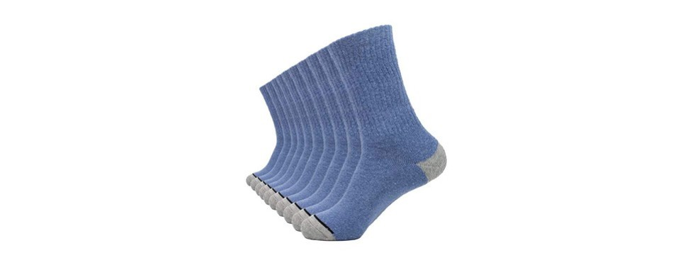 enerwear cotton moisture wicking crew socks