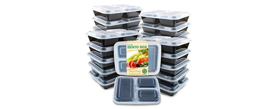 enther bento style 12 pack meal containers