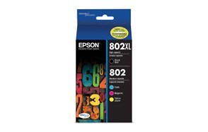epson t802xl-bcs durabrite ultra black and color combo pack ink cartridge