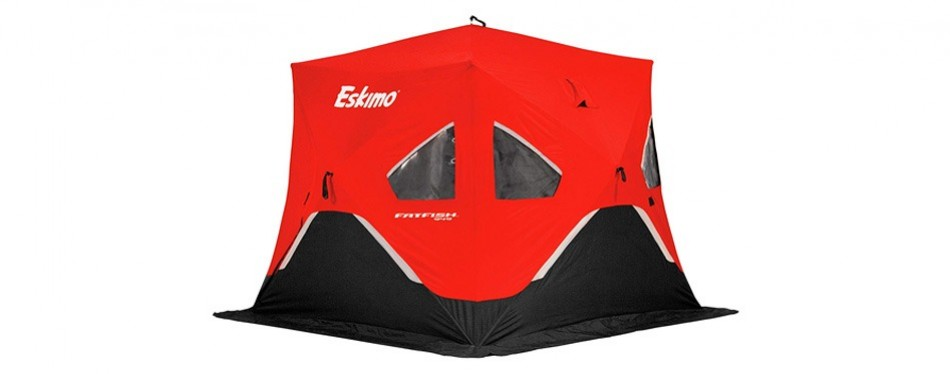 eskimo pop-up portable ice fishing shelter