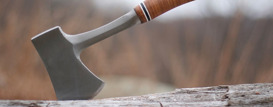 """estwing 14"""" sportsman's axe for chopping wood"""