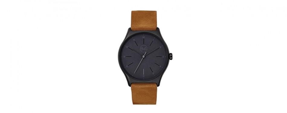 extra slim brown watch, by slim made