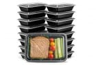 ez prepa 20 pack single compartment meal prep containers