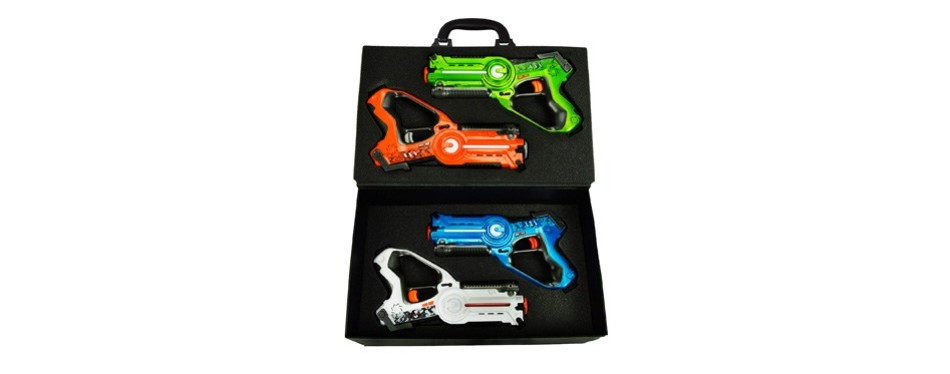 family games laser tag set night 4 pack set