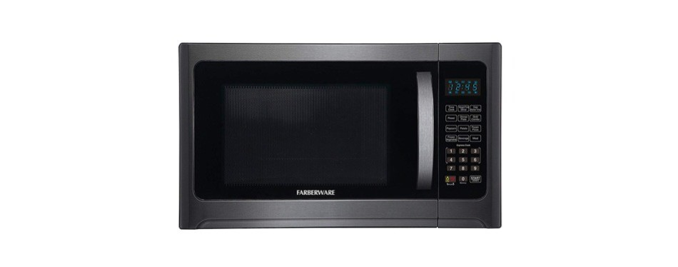 farberware black fmo12ahtbsg 1.2 cu. ft. 1100-watt microwave oven