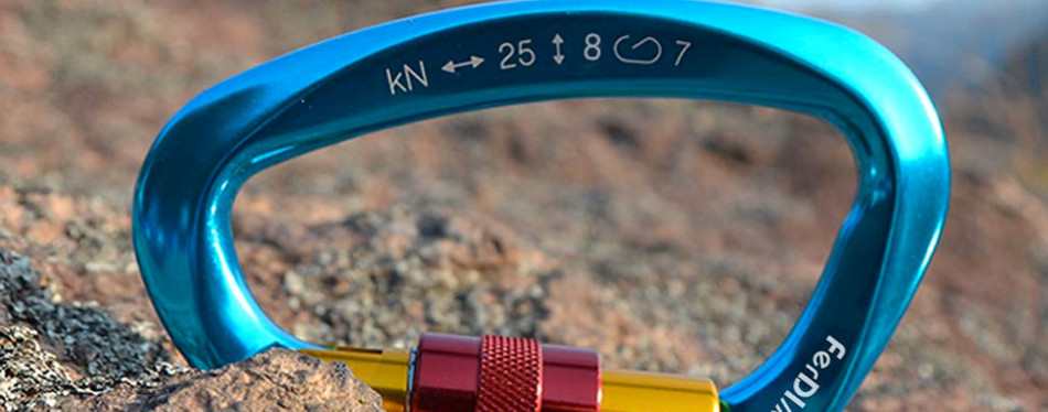 fding 25kn rock climbing carabiner
