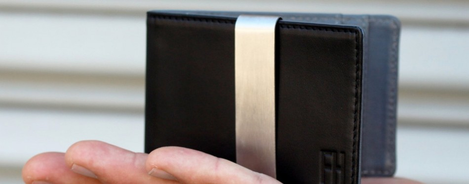 f&h minimalist money clip front wallet