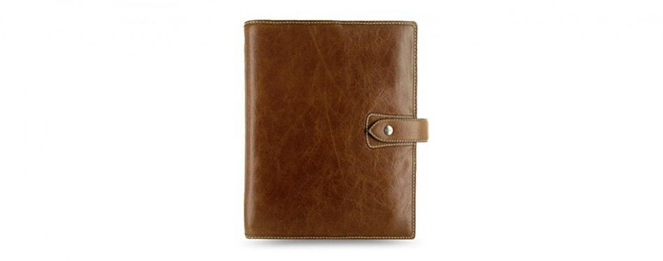 filofax malden ochre leather organizer, agenda, calendar