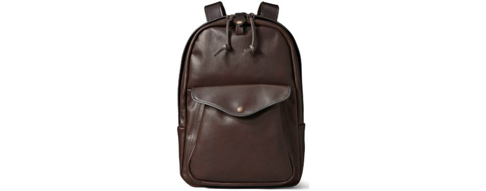 filson's weatherproof leather backpack