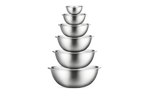 finedine stainless steel mixing bowls (set of 6)