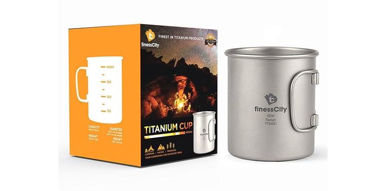 FinessCity Titanium Camping Mug