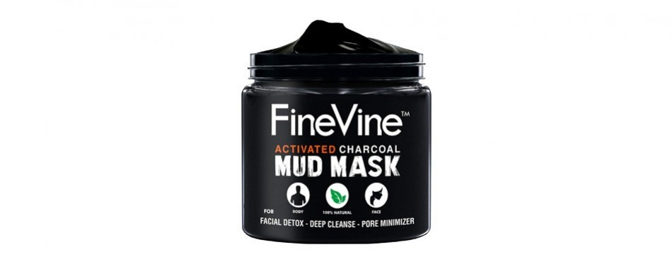 finevine charcoal mud mask for men