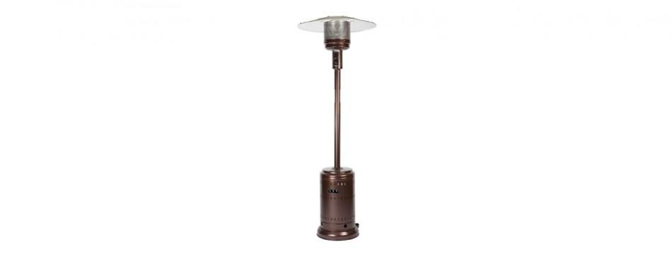 fire sense hammer tone bronze patio heater