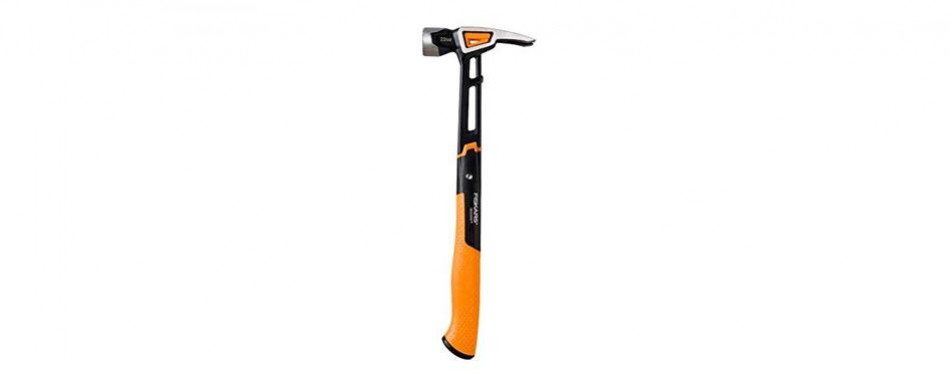 fiskars 22 ounce isocore milled face framing hammer