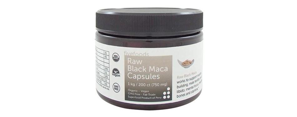 five foods black maca capsules