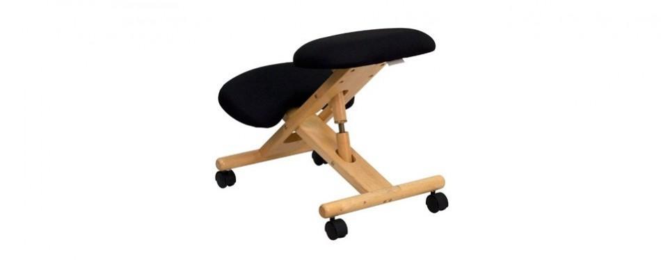 flash furniture mobile wooden ergonomic kneeling chair