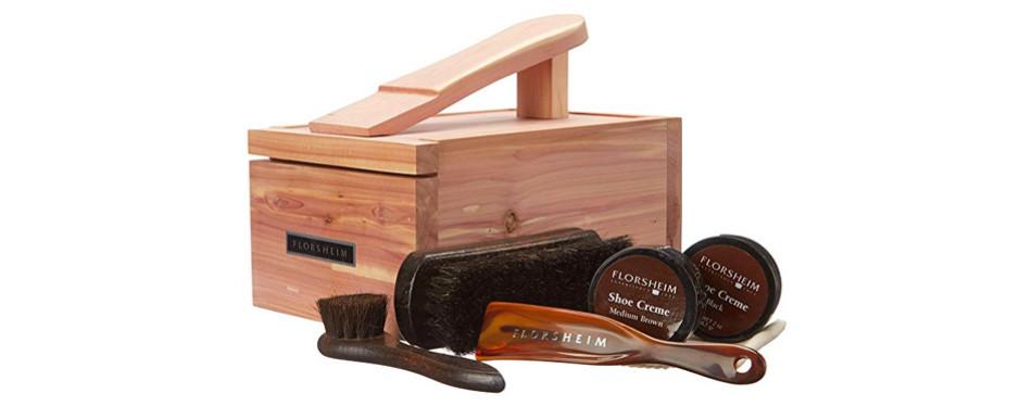 florsheim men's cedar shine box