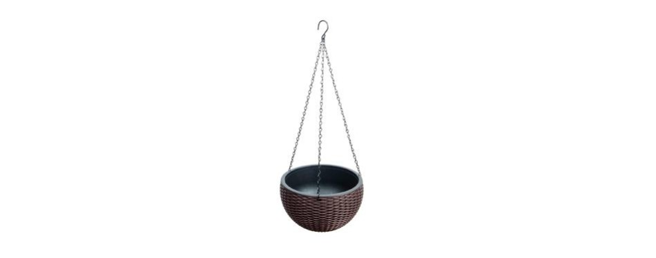 foraineam 10.2 inches round basket hanging planter