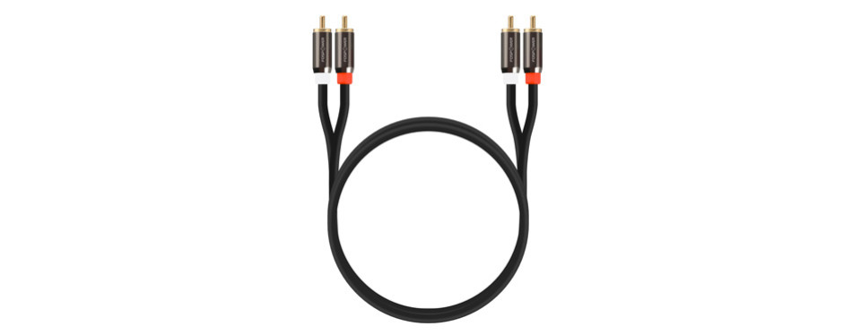 fospower 2 rca m/m stereo audio cable