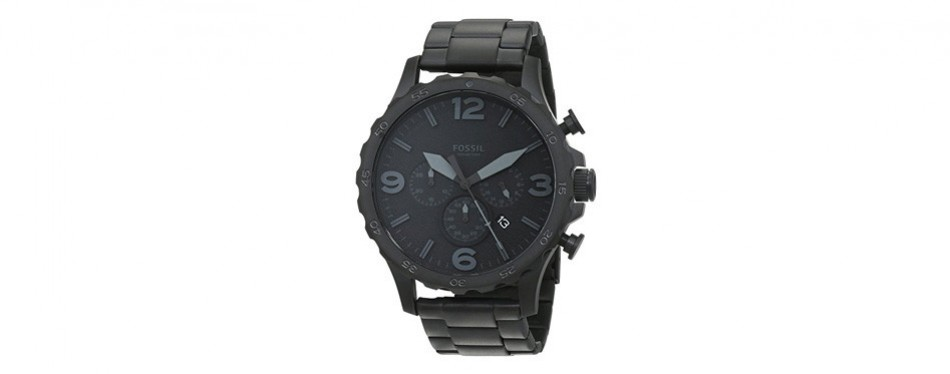 fossil men's nate blacktone watch