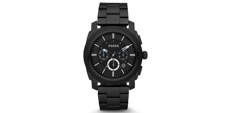 Fossil Men's Machine Black Stainless Steel Chronograph Watch