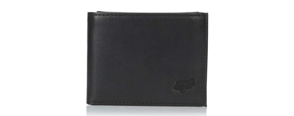 fox leather bifold wallet