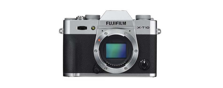 fujifilm x-t10 body silver mirrorless