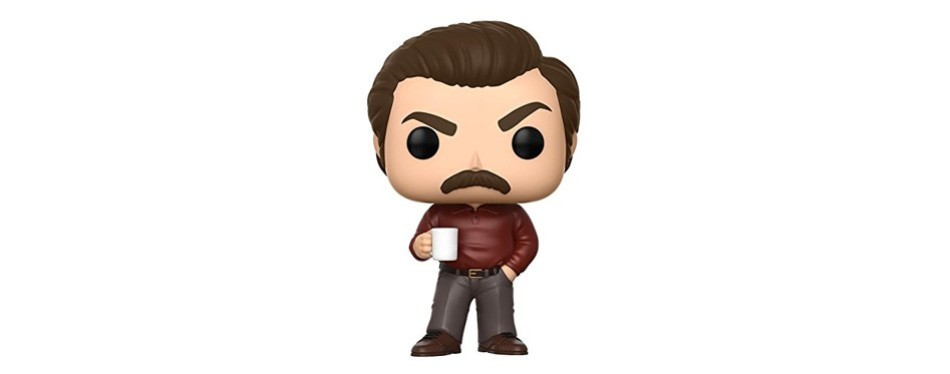 funko pop! parks and recreation ron swanson collectible figurine