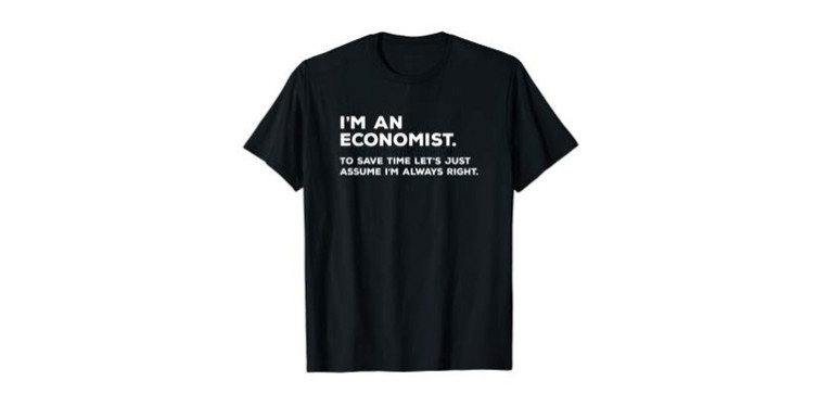 funny economists graduation t-shirt